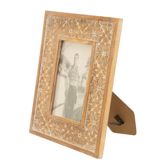 Carved Floral Wooden Picture Frame