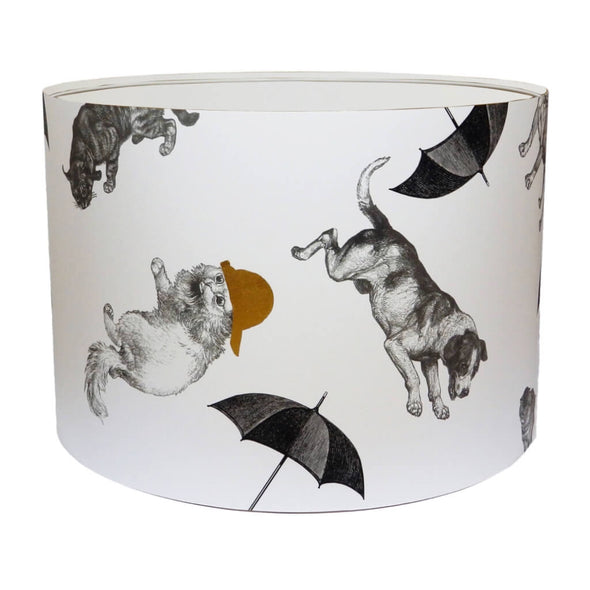 Cats and Dogs Lampshade With White Lining