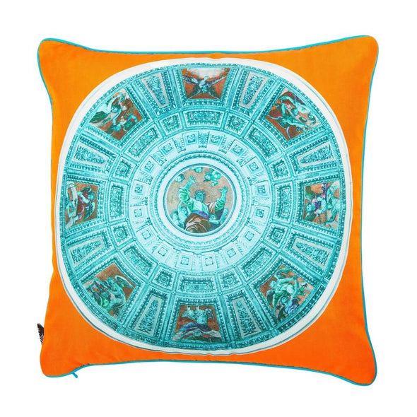 Chigi Chapel Blue Silk Cushion