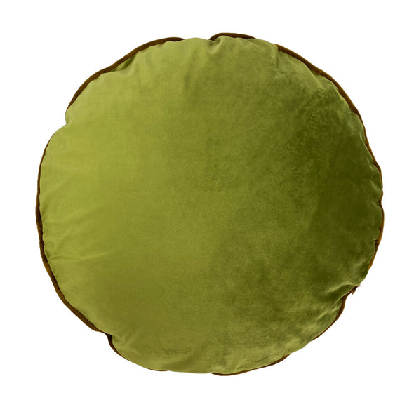 Circular Palms Velvet Cushion