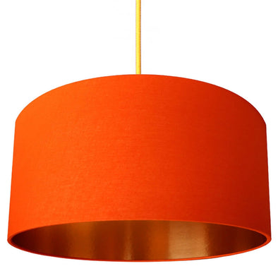 Copper Lined Tangerine Orange Lampshade