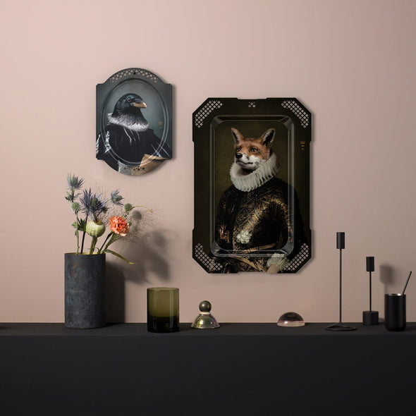 Crow Portrait Serving Tray