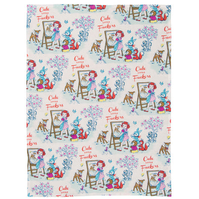 Cute Vintage Animals Tea Towel