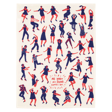 Dancing Tea Towel
