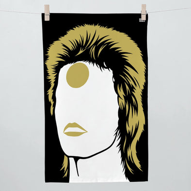 David Bowie Ziggy Stardust Tea Towel