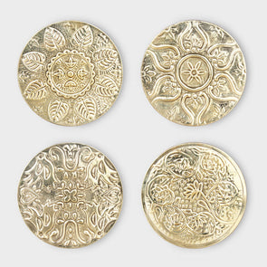 Decorative Floral Coasters Set of 4