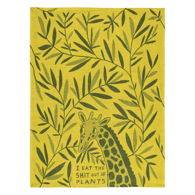 Eat Plants Tea Towel