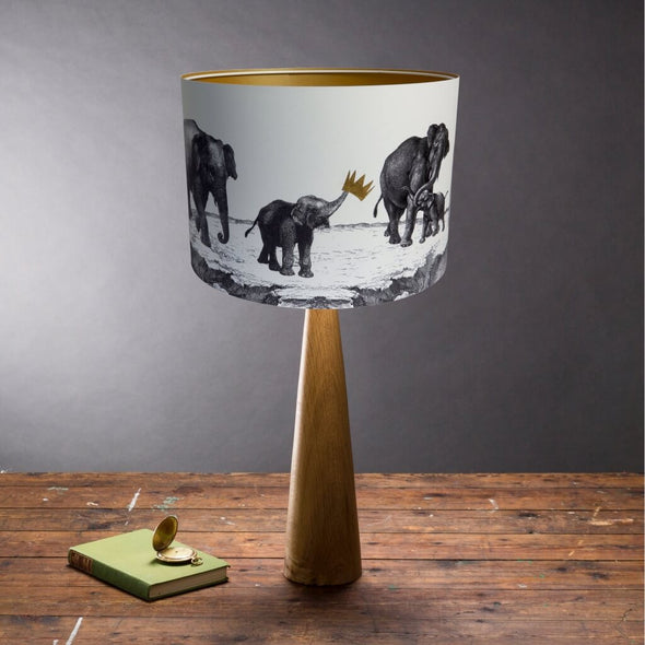 Elephants Illustrated Lampshade