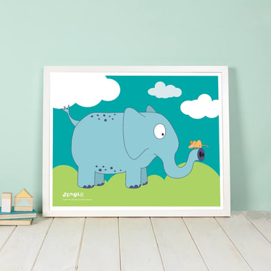 Elsie the Elephant Nursery Wall Art