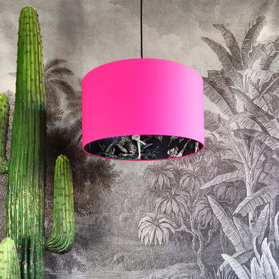 Flamboyant Animal Lampshade in Bubblegum Pink
