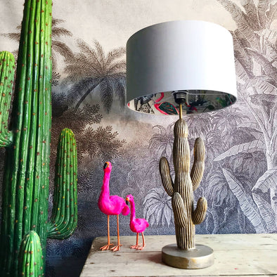Flamboyant Animal Lampshade in Cloud Grey
