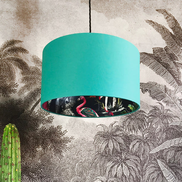 Flamboyant Animal Lampshade in Jade Green