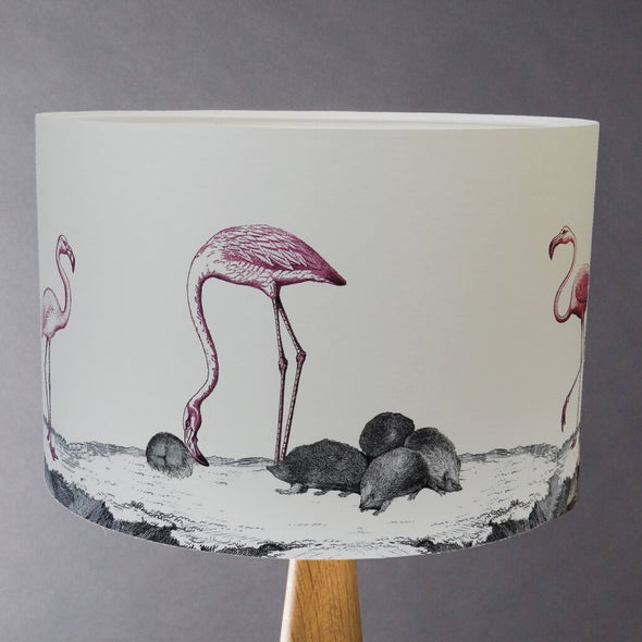 Flamingos and Hedgehogs illustrated Lampshade