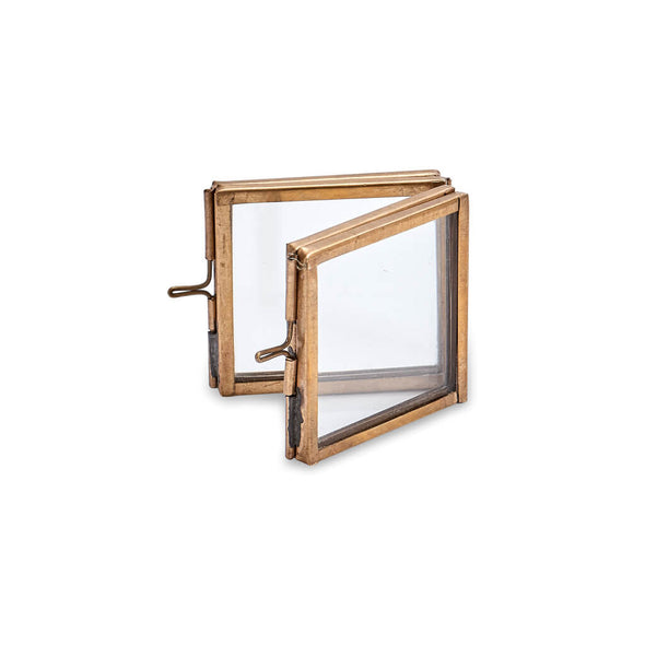 Folded Mini Antique Brass Frame