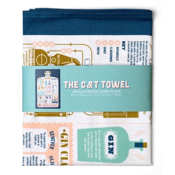 Gin and Tonic Guide Kitchen Towel