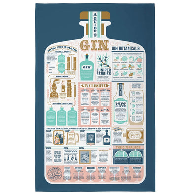 Gin and Tonic Guide Tea Towel