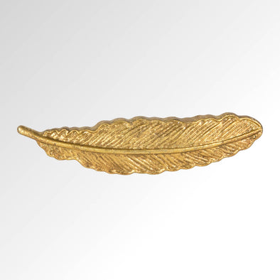 Gold Feather Drawer Knob