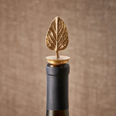 Gold Leaf Bottle Stopper