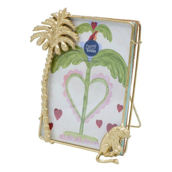 Gold Palm and Lion Photo Frame