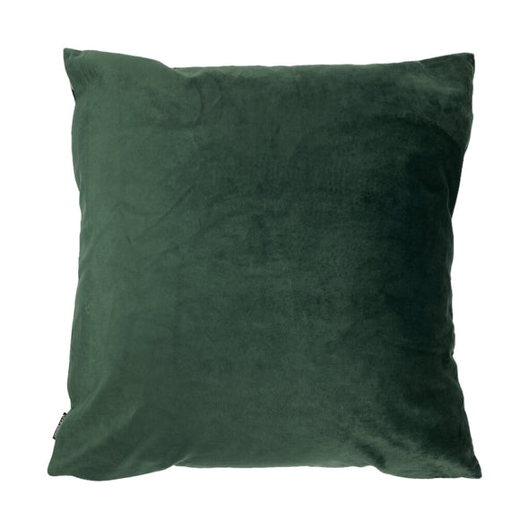 Green Fern Velvet Cushion Back