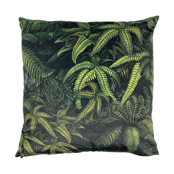 Green Fern Velvet Cushion