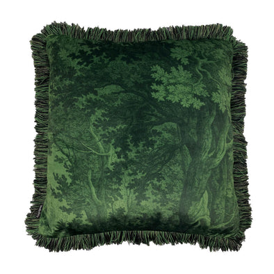 Green Forest Velvet Cushion