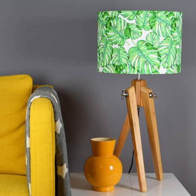 Green Palm Leaf Lampshade