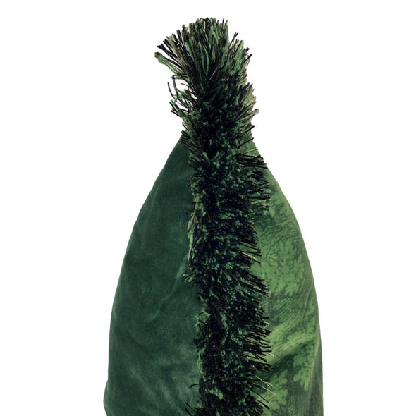 Green Woods Velvet Cushion With Trim