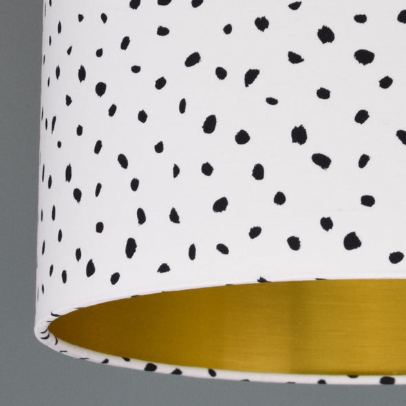 Monochrome Handmade Speckled Lampshade