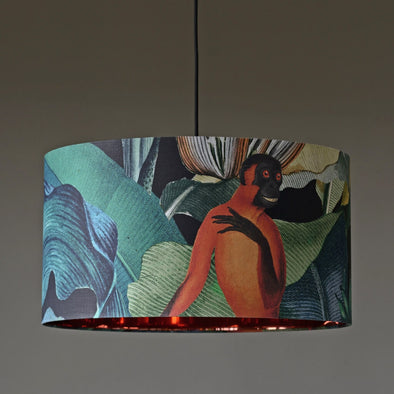 Jungle Monkey Lampshade With Copper Lining