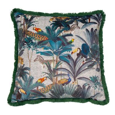 Jungle Animals Scene Cushion