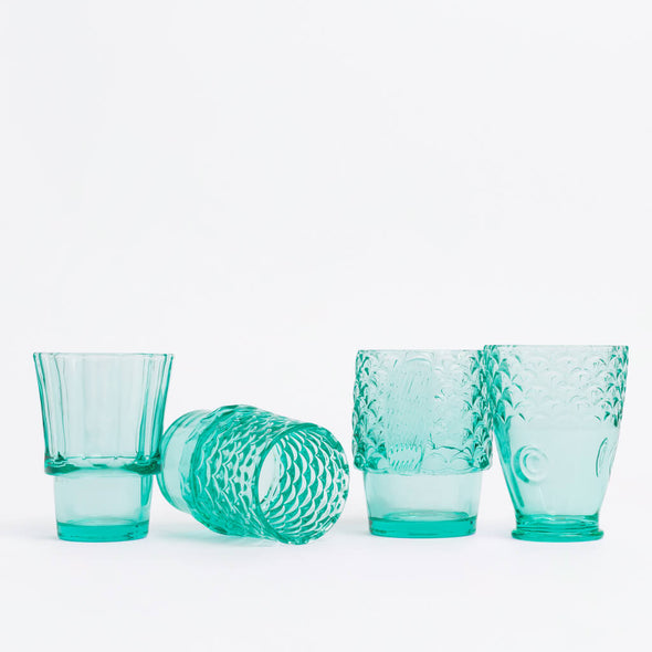 Koifish Fish Stacking Glasses Teal