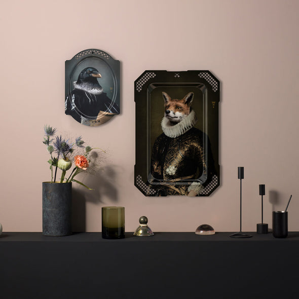 Large Decorative Fox Serving Tray