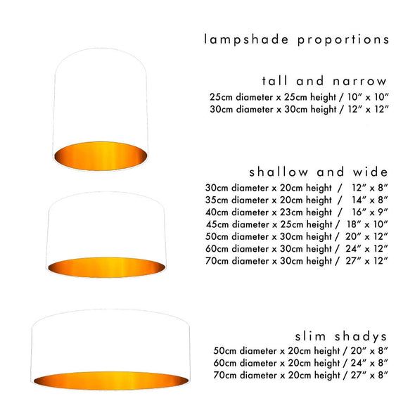 Lemurs Lined Yellow Silhouette Lampshade Dimensions