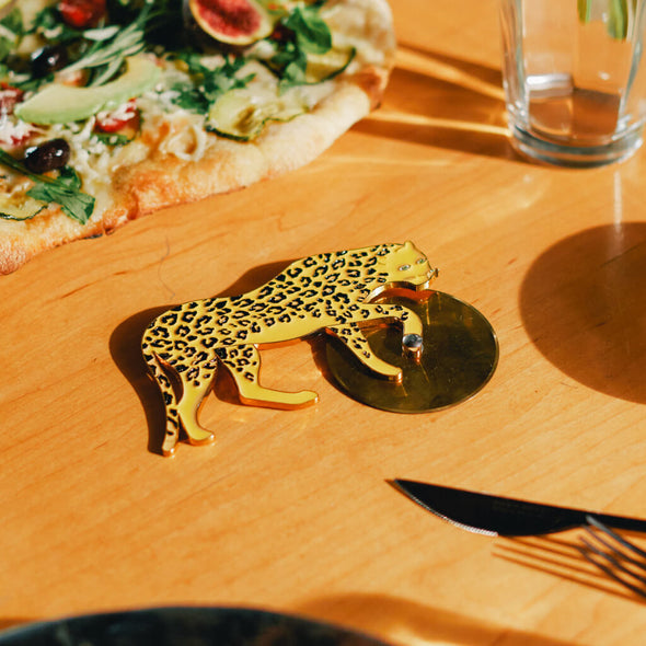 Leopard Pizza Cutter
