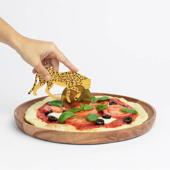 Leopard Shaped Pizza Cutter Wheel