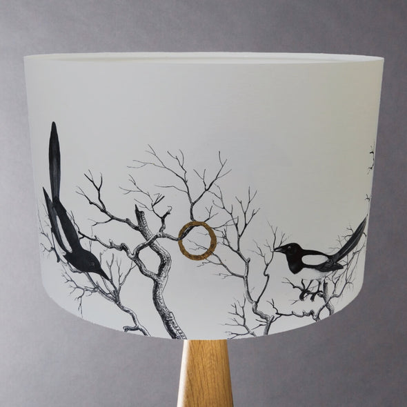 Magpies Illustrated Lampshade