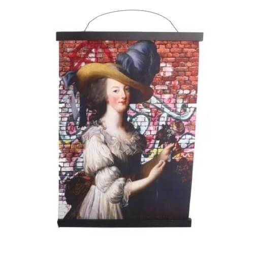 Marie Antoinette With Hat - Wall Art