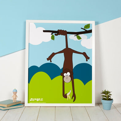 Maya the Monkey Nursery Print