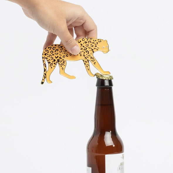 Metal Leopard Bottle Opener