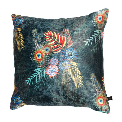 Midnight Blooms Velvet Cushion