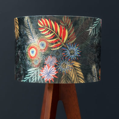 Midnight Garden Lampshade With Gold Lining