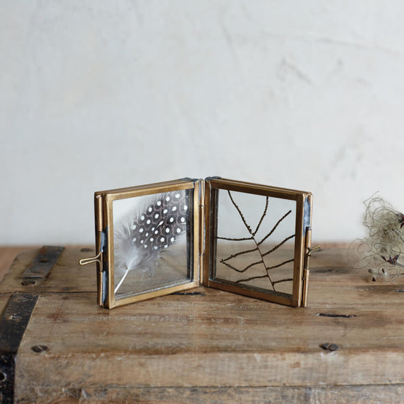Mini Folded Antique Brass Frame
