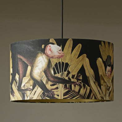 Monkey Drum Shade With Gold Lining