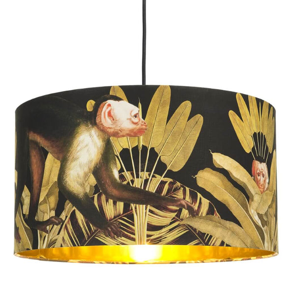Monkey Lampshade With Gold Lining