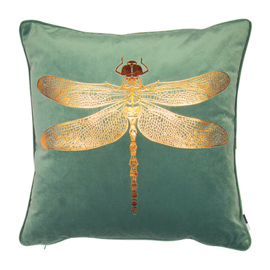 Moss Green Dragonfly Cushion