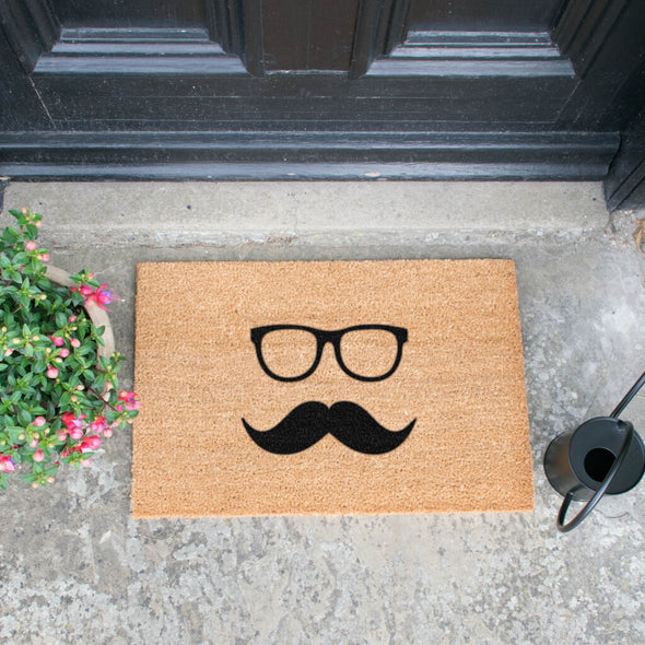 Moustache And Glasses Doormat