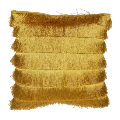 Mustard Gatsby Fringed Cushion