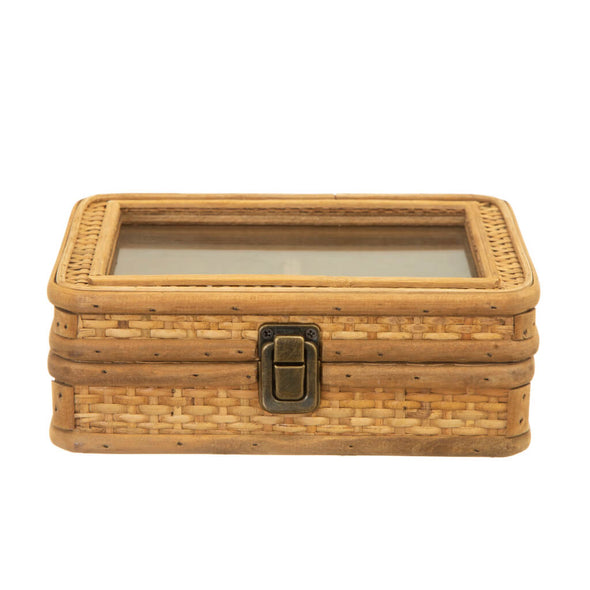 Natural Rattan Jewellery Box