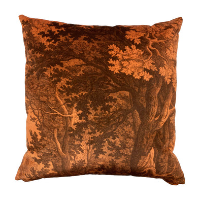 Orange Forest Velvet Cushion